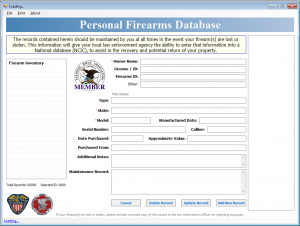 Personal Firearms Database